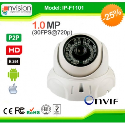Купить IP камеры NVISION IP-F1101 (1.0 Mp, F=3.6mm)