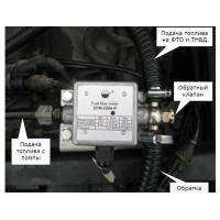 Установка датчика расхода топлива