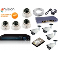 Комплект IP видеонаблюдения №2 (8 камер)