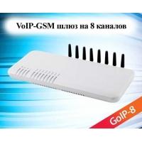 Шлюз GoIP-8 (на 8 GSM каналов)